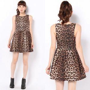 TopShop Animal Print Sleeveless Skater Dress